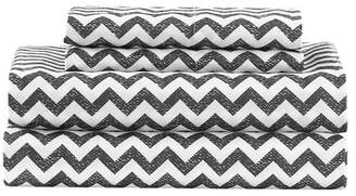 Duck River Textile Casey Chevron 4-Piece Queen Set - Grey
