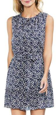 Vince Camuto Zen Bloom Bud Whirlwind A-Line Dress