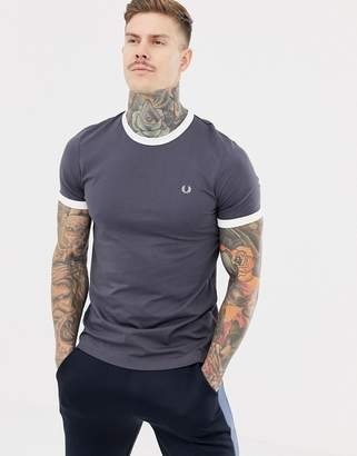 Fred Perry ringer t-shirt in gray