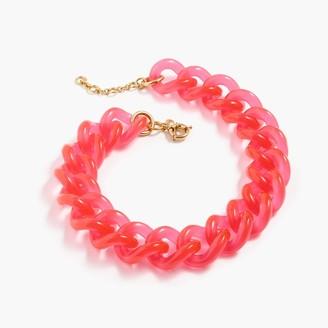 Lucite link necklace $59.50 thestylecure.com