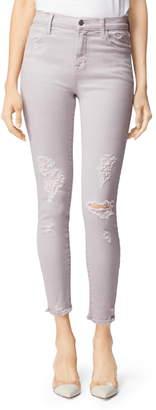 J Brand Alana High Waist Ripped Crop Skinny Jeans