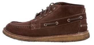 Gucci Suede Boat Shoe Ankle Boots