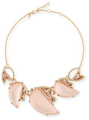 Alexis Bittar Abstract Tulip Glitter Bib Necklace