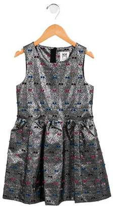 Milly Minis Girls' Pleated Metallic Dress w/ Tags