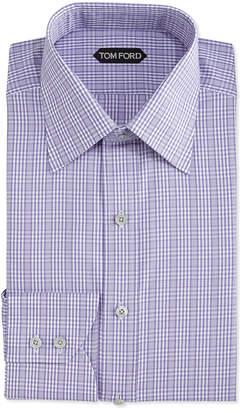 Tom Ford Check-Pattern Dress Shirt, Purple