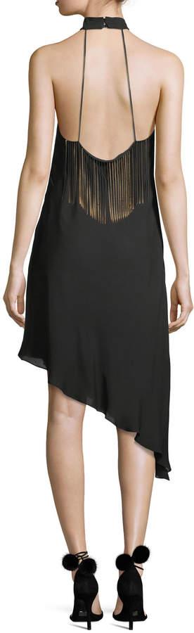 Haute Hippie Lone Woman Caged-Yoke Asymmetric Cocktail Dress