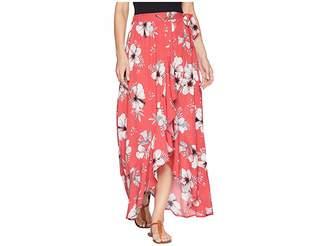 BB Dakota Kaliyah Tahitian Petals Printed Wrap Skirt Women's Skirt