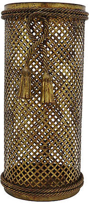 One Kings Lane Vintage Mid-Century Italian Cane/Umbrella Stand - Rose Victoria