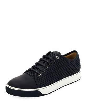 Lanvin Men's Bi-Material Low-Top Sneakers
