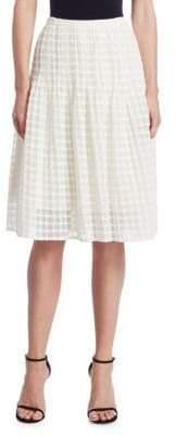 Akris Punto Lace Knee Length Bell Skirt