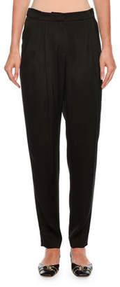 Giorgio Armani Pleated Relaxed Silk Pants