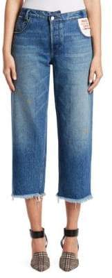 Monse Leather Pocket Cropped Jeans