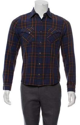 Nudie Jeans Plaid Button-Up Shirt
