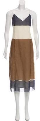 The Row Colorblock Slip Dress
