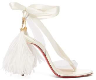 Christian Louboutin Marie Edwina 100 Satin Sandals - Womens - White