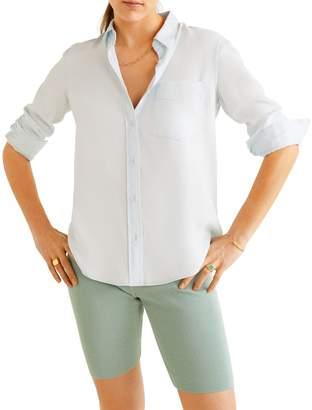 MANGO Three-Quarter-Sleeve Button Down Shirt