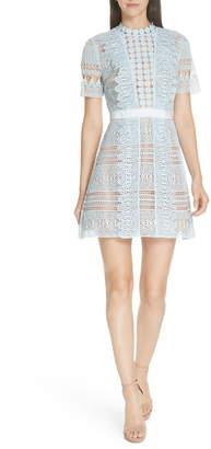 Self-Portrait Lace A-Line Minidress