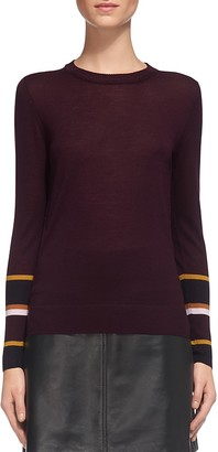 Whistles Hayden Striped Cuff Knit Top $180 thestylecure.com