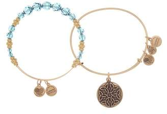 Alex and Ani Endless Knot Beaded Expandable Wire Bracelet Set