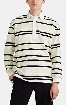 J.W.Anderson Men's Striped Cotton Rugby Shirt - Green