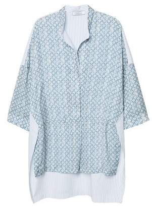 Violeta BY MANGO Contrasting print blouse