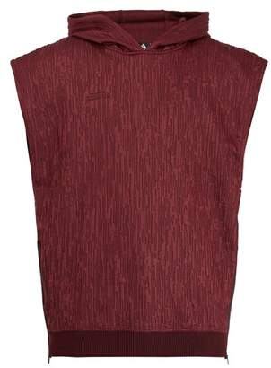 adidas By Pogba - Hooded Sleeveless Sweatshirt - Mens - Burgundy
