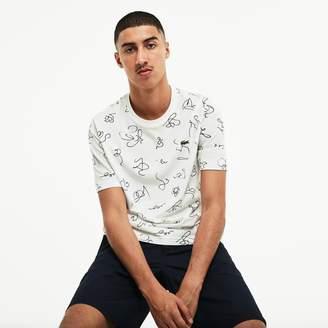 Lacoste Men's LIVE Doodle Print T-Shirt