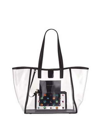 Sophia Webster Dina Gem See-Through Vinyl Tote Bag