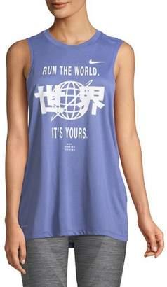 Nike Run the World Dri-FIT Graphic Muscle Tank Top