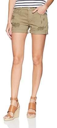 Lucky Brand Women's Low Rise Boyfriend Short Jean in Olive Reyes