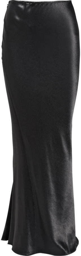 Donna Karan Hammered stretch-satin maxi skirt