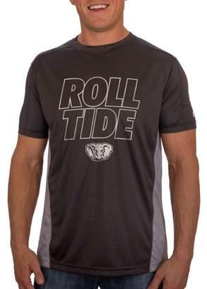 NCAA Russell Alabama Crimson Tide Men's Athletic Fit Black / Storm Gray Impact Tee