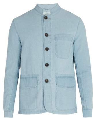 Oliver Spencer Artist Cotton Jacket - Mens - Light Blue