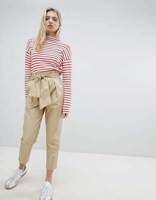 New Look Cotton Paperbag Waist Trouser