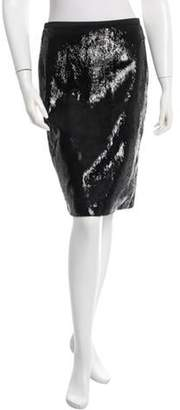 Tom Ford Leather Knee-Length Skirt. w/ Tags Black Leather Knee-Length Skirt. w/ Tags