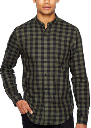 Jf J.Ferrar Long Sleeve Checked Button-Front Shirt