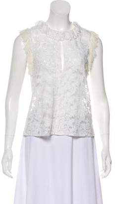 Alexis Sleeveless Embroidered Top
