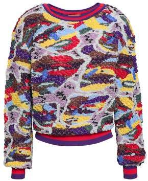 Missoni Metallic Embroidered Boucle-knit Sweater