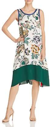 Tory Burch Rosie Floral-Print Color-Block Dress