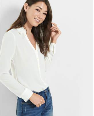 Express slim fit no pocket portofino shirt $49.90 thestylecure.com