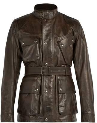 Belstaff Panther Leather Jacket - Mens - Black Brown
