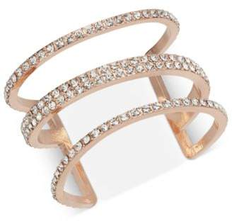 INC International Concepts I.N.C. Silver-Tone Pavé Triple-Row Cuff Bracelet, Created for Macy's