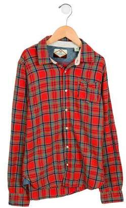 Scotch Shrunk Boys' Plaid Button-Up Shirt