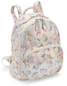 Bari Lynn Girl's Iridescent Unicorn Backpack