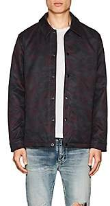 The Very Warm THE VERY WARM MEN'S CAMOUFLAGE TECH-TWILL COACHES JACKET-WINE SIZE L