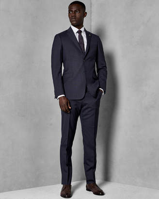Ted Baker COMTOT Checked wool suit trousers