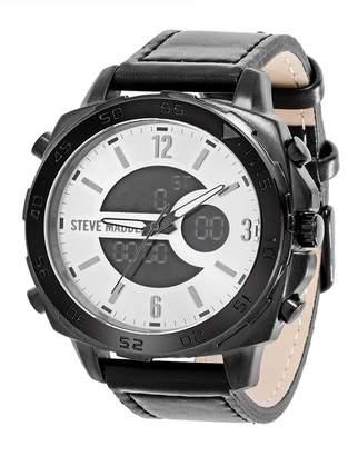 Steve Madden Men's Quartz Oversized Watch, 47mm