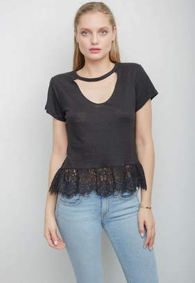 Generation Love Cheryl Lace Ruffle Tee