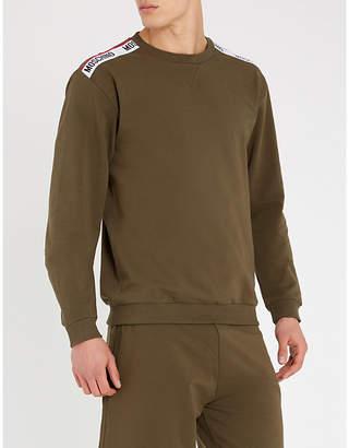 Moschino Logo tape stretch-cotton sweatshirt