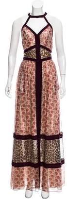 Tamara Mellon Sleeveless Pattern Maxi Dress w/ Tags